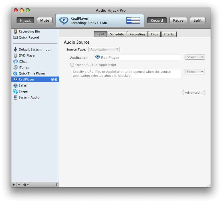 Audio Hijack Pro 3 2 0 for Macintosh OS X