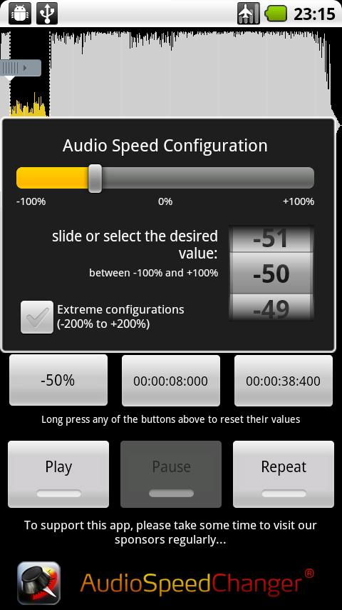 audio speed changer 1 2 1 for android. Black Bedroom Furniture Sets. Home Design Ideas