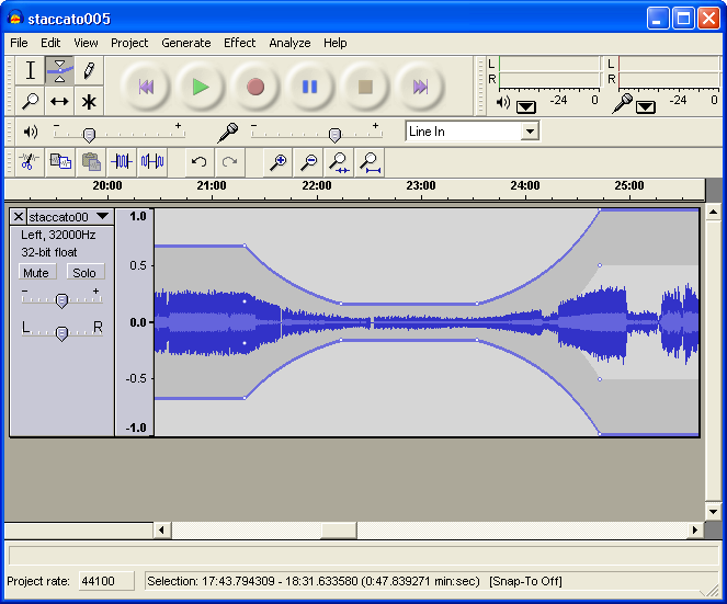 Audacity 2.0 Screenshot