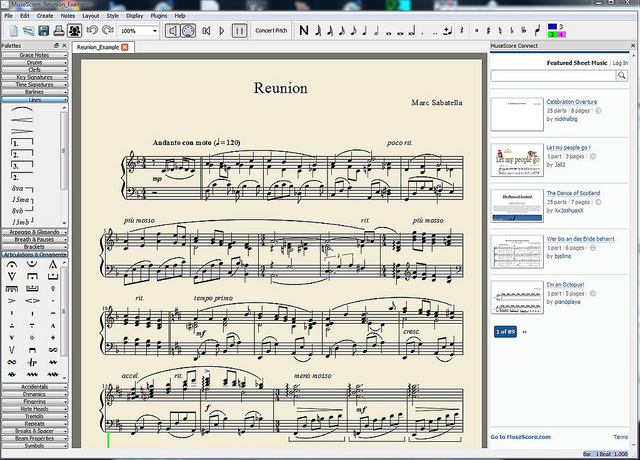 MuseScore 1 3 for Macintosh OS X