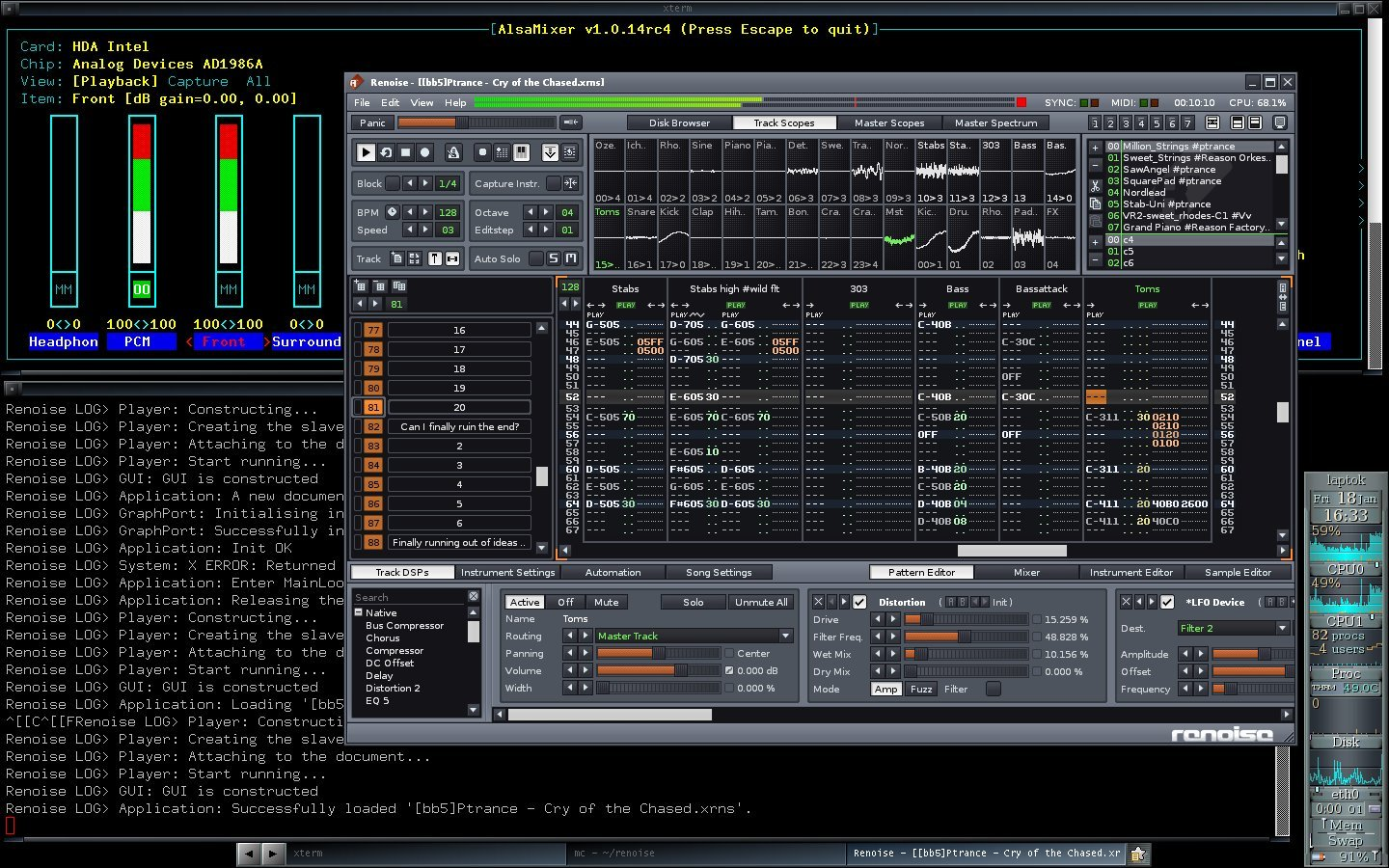 Renoise 3.1 for Linux